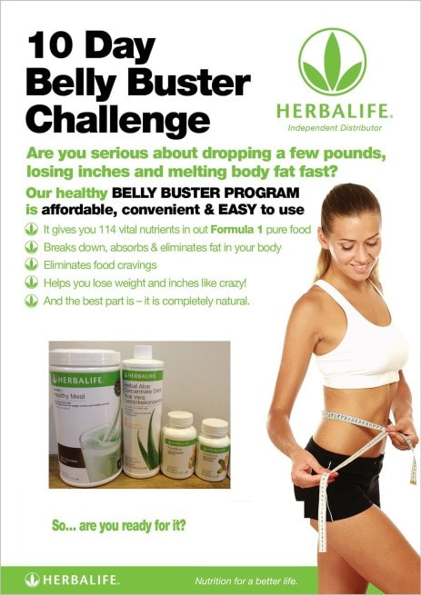 herbalife products for flat stomach