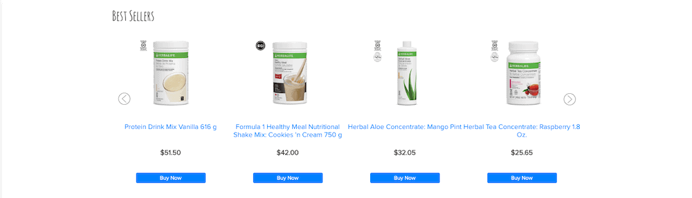 Price List of Herbalife Products in India
